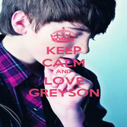 KEEP CALM AND LOVE GREYSON - Personalised Poster A4 size