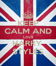 KEEP CALM AND LOVE HARRY  STYLES - Personalised Poster A1 size