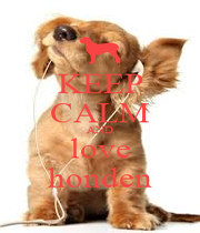 KEEP CALM AND love honden - Personalised Poster A1 size