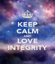 KEEP CALM AND LOVE INTEGRITY - Personalised Poster A1 size