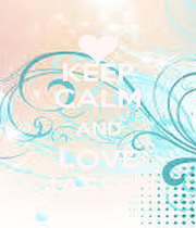 KEEP CALM AND LOVE JASSEN - Personalised Poster A1 size