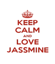 KEEP CALM AND LOVE JASSMINE - Personalised Poster A1 size