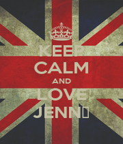 KEEP CALM AND LOVE JENN▼ - Personalised Poster A4 size