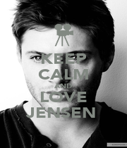 KEEP CALM AND LOVE JENSEN  - Personalised Poster A1 size