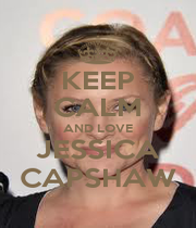 KEEP CALM AND LOVE JESSICA CAPSHAW - Personalised Poster A1 size