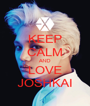 KEEP CALM AND LOVE JOSHKAI - Personalised Poster A1 size