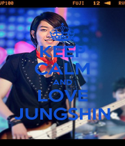 KEEP CALM AND LOVE JUNGSHIN - Personalised Poster A1 size