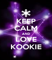 KEEP CALM AND LOVE KOOKIE - Personalised Poster A4 size