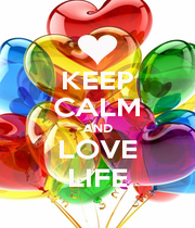 KEEP CALM AND LOVE LIFE - Personalised Poster A1 size