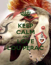 KEEP CALM AND LOVE LOU PERAC - Personalised Poster A1 size