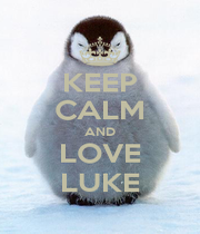 KEEP CALM AND LOVE LUKE - Personalised Poster A1 size