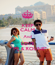 """KEEP CALM And LOVE  """" MJ & ROUNE"""" - Personalised Poster A4 size"""