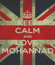KEEP CALM AND LOVE  MOHANNAD - Personalised Poster A4 size