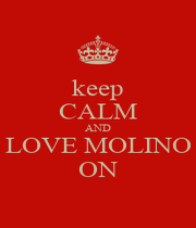 keep CALM AND LOVE MOLINO ON - Personalised Poster A4 size
