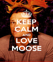 KEEP CALM AND LOVE MOOSE - Personalised Poster A4 size