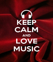 KEEP CALM AND LOVE MUSIC - Personalised Poster A1 size