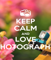 KEEP CALM AND LOVE PHOTOGRAPHY - Personalised Poster A4 size
