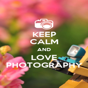 KEEP CALM AND LOVE PHOTOGRAPHY - Personalised Poster A1 size