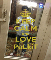 KEEP CALM AND LOVE PuLkiT - Personalised Poster A4 size