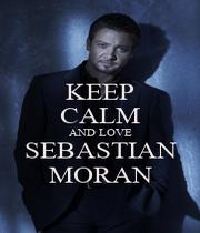 KEEP CALM AND LOVE SEBASTIAN MORAN - Personalised Poster A1 size