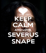 KEEP CALM AND LOVE  SEVERUS SNAPE - Personalised Poster A4 size