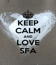 KEEP CALM AND LOVE SFA - Personalised Poster A1 size