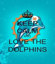 KEEP CALM AND LOVE THE DOLPHINS - Personalised Poster A1 size