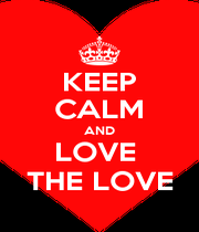 KEEP CALM AND LOVE  THE LOVE - Personalised Poster A1 size