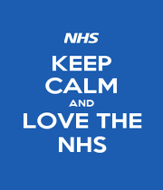 KEEP CALM AND LOVE THE NHS - Personalised Poster A1 size