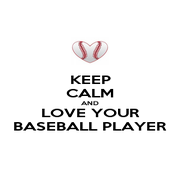 KEEP CALM AND LOVE YOUR BASEBALL PLAYER - Personalised Poster A1 size