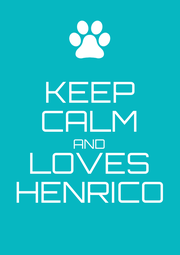 KEEP CALM AND LOVES HENRICO - Personalised Poster A1 size