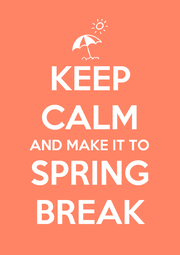 KEEP CALM AND MAKE IT TO SPRING BREAK - Personalised Poster A4 size