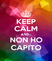 KEEP CALM AND... NON HO CAPITO - Personalised Poster A4 size