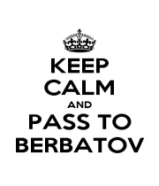 KEEP CALM AND PASS TO BERBATOV - Personalised Poster A1 size
