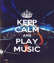 KEEP CALM AND PLAY MUSIC - Personalised Poster A4 size