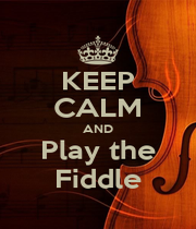 KEEP CALM AND Play the Fiddle - Personalised Poster A4 size