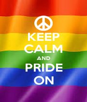 KEEP CALM AND PRIDE ON - Personalised Poster A4 size