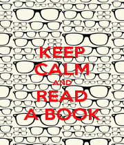 KEEP CALM AND READ A BOOK - Personalised Poster A4 size