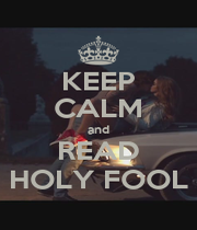 KEEP CALM and READ HOLY FOOL - Personalised Poster A1 size