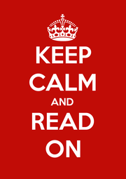 KEEP CALM AND READ ON - Personalised Poster A1 size