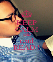 KEEP CALM AND read READ ! - Personalised Poster A1 size