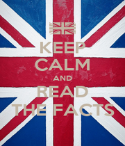 KEEP CALM AND READ THE FACTS - Personalised Poster A1 size