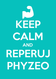 KEEP CALM AND REPERUJ PHYZEO - Personalised Poster A1 size