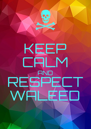 KEEP CALM AND RESPECT WALEED - Personalised Poster A1 size