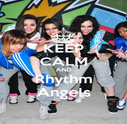 KEEP CALM AND Rhythm Angels - Personalised Poster A1 size