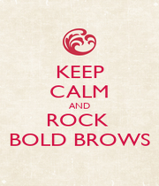 KEEP CALM AND ROCK  BOLD BROWS - Personalised Poster A1 size