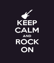 KEEP CALM AND ROCK ON - Personalised Poster A4 size