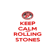 KEEP CALM AND ROLLING STONES - Personalised Poster A1 size