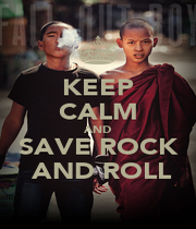 KEEP CALM AND SAVE ROCK  AND ROLL - Personalised Poster A1 size