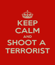 KEEP CALM AND SHOOT A  TERRORIST - Personalised Poster A1 size